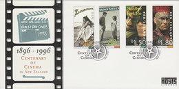 New Zealand 1996 Centenary Of Cinema Fdc - FDC