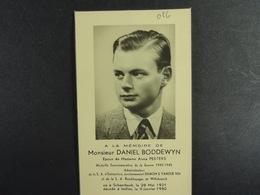 Daniel Boddewyn épx Peeters Schaerbeek 1921 Ixelles 1950 (Médaille Guerre 1940-1945) /056/ - Images Religieuses