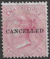 1863-72 Mauritius 4d SG.# 62 Cancelled Overprint. - Maurice (...-1967)