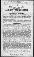 August Vermeirsch / Geboren Te Meygem - 1830 / 1932 Op 102 Jarige Leeftijd - Images Religieuses