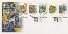 New Zealand 1996 Rescue Services FDC - FDC
