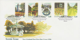 New Zealand 1996 Scenic Issue Gardens FDC - FDC