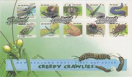 New Zealand 1997 Creepy Crawlies FDC - FDC