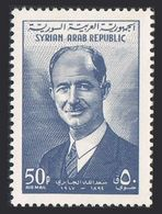 Syria C283,MNH.Michel 818. Saad Allah El Jabri,a Leader Of Syria's Struggle For Independence,1962. - Famous People