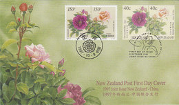 New Zealand 1997 Joint Issue With China-Flowers FDC - FDC