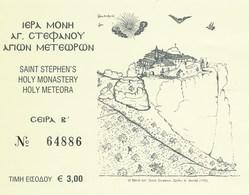 Griechenland 2018 Eintrittskarte Meteora-Kloster Agios Stefanos UNESCO-Welterbe - Eintrittskarten