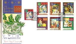 New Zealand 1998 Christmas FDC - FDC