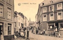 Herve - Rue Haute (top Animation, Fontaine, Commerces, Photo Belge Lumière) - Herve