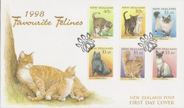 New Zealand 1998 Domestic Cats FDC - FDC