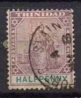 TRINITE  ( POSTE ) : Y&T N°  44  TIMBRE  BIEN  OBLITERE . - Trinité & Tobago (...-1961)