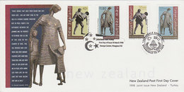 New Zealand 1998 Memorial Statues FDC - FDC