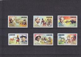 LIBERIA - 1975 - **/MNH -  DR. SCHWEITZER - AFRICAN FAUNA - Mi 960/965 - Liberia