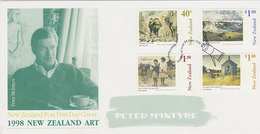 New Zealand 1998 Paintings By Peter MacIntyre  FDC - FDC