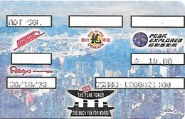 Hong Kong: The Peak Tower - Vip Card - Andere Sammlungen