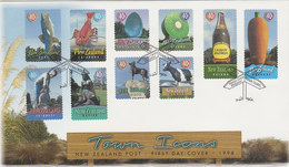 New Zealand 1998 Town Icons FDC - FDC