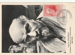 France CarteMaximuml Antoine Bourdelle  10 Juilet 1954 N°992 - Cartoline Maximum