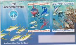 New Zealand 1998 Underwater World FDC - FDC