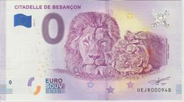 Billet Touristique 0 Euro Souvenir France 25 Citadelle De Besancon 2018-2 N°UEJR000948 - EURO