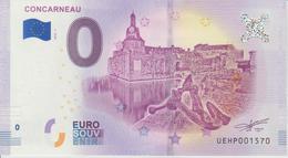 Billet Touristique 0 Euro Souvenir France 29 Concarneau 2018-1 N°UEHP001570 - Essais Privés / Non-officiels