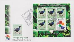 New Zealand 2001 Hong Kong 2001 Miniature Sheet FDC, - FDC