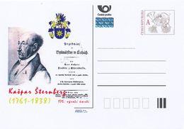 Rep. Ceca / Cart. Postali (Pre2013/60) Kaspar Maria Von Sternberg (1761-1838) Mineralogista, Entomologo, Botanico ... - Minerali