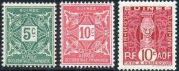 Guinee Taxe 1914 Yvert 16 - 17 - 27 ** TB - Guinée Française (1892-1944)