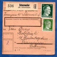Colis Postal  - Départ Scherweiler  -  09/12/1943 - Allemagne