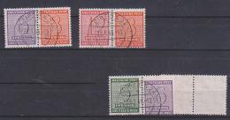 SBZ Zusammendrucke Westsachsen Wz. Y, (W Zd 13 - 16 320,-) , Gestempelt Leipzig N24  29.1.46 - Zone Soviétique