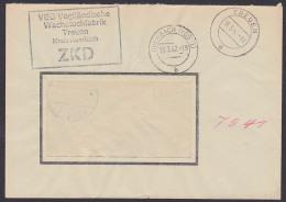 Treuen Kreis Auerbach (Vogtland), ZKD-Kastenst. In Schwarz VEB Vogtländische Wachstuchfabrik 16.3.62 - [6] République Démocratique