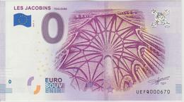 Billet Touristique 0 Euro Souvenir France 31 Les Jacobins Toulouse 2018-3 N°UEFQ000670 - Essais Privés / Non-officiels