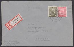 Piesteritz Provinz Sachsen R-Bf , Portorichtig 16.11.45 Mit Mi. 83X Nach Dresden Ohne Eing.-St. - Sovjetzone