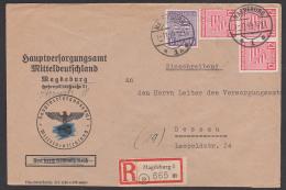 Magdeburg RBf 6 Und 12 Pfg.  Geschn. Wz. X ,12 Pfg(3) Und 6 Pfg Portogenau 1.11.45, Aptierter Briefstempel - Sowjetische Zone (SBZ)