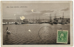 San Juan Harbor Porto Rico  P. Used Deltiology Globus Collector Club - Puerto Rico