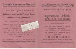 08 - BUZANCY - Grande Fête De La Terre Du 31/08/1947 ( 4 Pages 11 Cm X 13,6 Cm )    Rare   En L'état - Programs