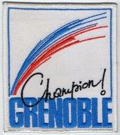 E36 - Sport.....? - Ecusson 10 X 11,5 - Champion GRENOBLE - Ecussons Tissu