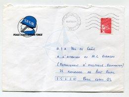 France Lettre Obliteration Bureau Postal Militaire 660 - T 3085 06 07 99 - Illustration SFOR - Postmark Collection (Covers)