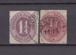 Schleswig-Holstein - 1865/67 - Michel Nr. 14/15 - 110 Euro - Schleswig-Holstein