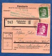Colis Postal  - Départ Diedenhofen  -  10/9/1943 - Allemagne