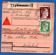Colis Postal  - Départ Diedenhofen 1  -  10/11/1943 - Allemagne
