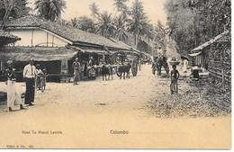 CEYLON - COLOMBO - ROAD DE MOUNT LAVINIA   (NICE ANIMATION)- S920 - Sri Lanka (Ceylon)