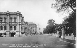 RP - CEYLON - COLOMBO - QUEEN'S STREET & QUEEN'S HOUSE - S921 - Sri Lanka (Ceylon)