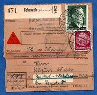 Colis Postal  - Départ Schonach -  26/1/1943 - Allemagne