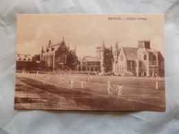 VINTAGE UK: BRISTOL CLIFTON College Cricket Match Sepia - Bristol