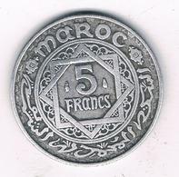 5 FRANCS 1370 AH MAROKKO /5655/ - Morocco