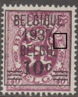 455** (P2T54) LV7 Du 284 Malfaçon 2è E Belgique           .. - Abarten (Katalog Luppi)
