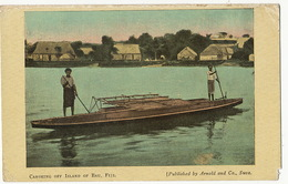 Fiji  Canoeing Off Island Of Bau Edit Arnold   Used Suva 1915 To Gensac Gironde Corners Defects - Fiji
