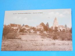 """61 ) Mauves-sur-huisne : N° 751-38 : Quartier De L'eglise  """" Vue Générale """" :  Annee 1940 : EDIT : Dujardir - France"""