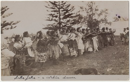 Tonga  Real Photo Laka Laka Native Dance - Fidji