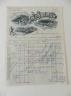 Facture - Armentières - Manufacture De Toiles A. Salmon - 1923 - Textile & Vestimentaire