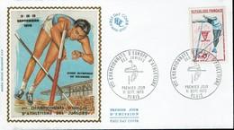 Frankreich France 1970 - Leichtathletik Stabhochsprung - MiNr 1722 FDC - Leichtathletik